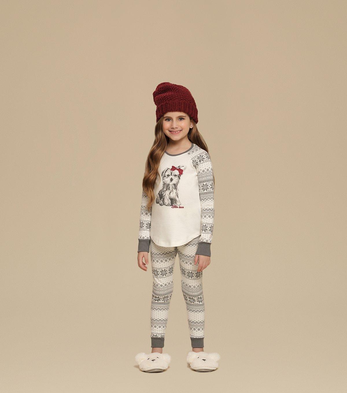 Pijama Manga Longa com Legging Infantil - 67335