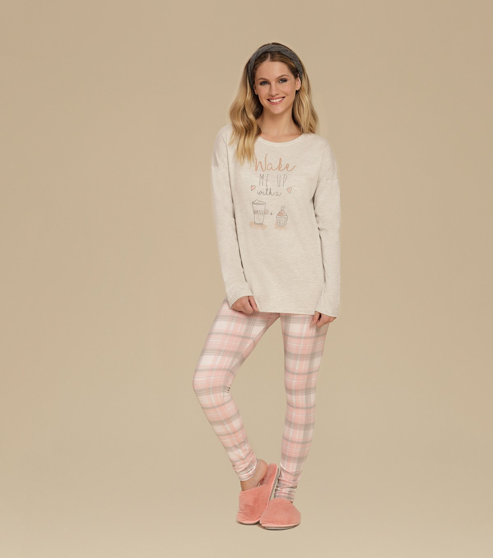 Pijama Manga Longa com Legging - 10582