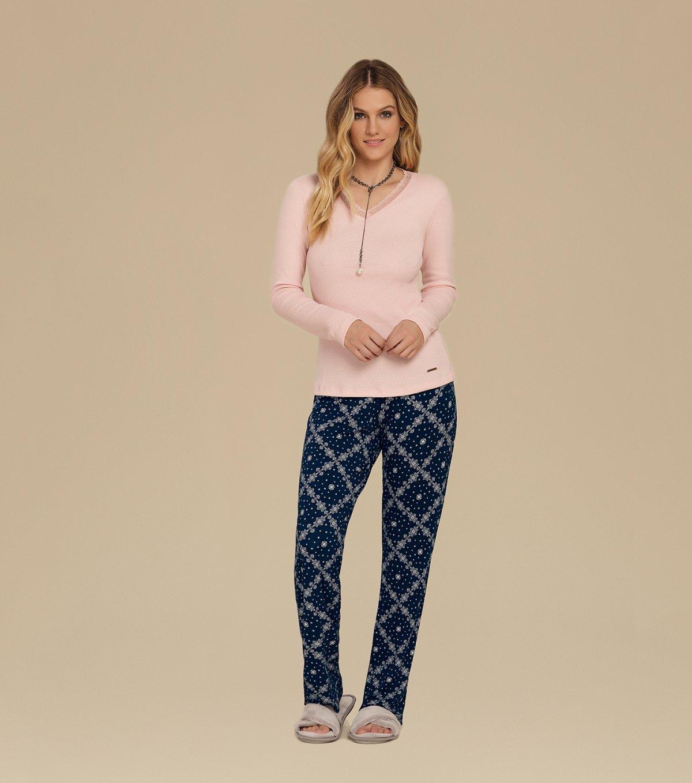 Pijama Manga Longa - 10608