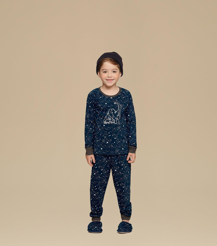 Pijama Manga Longa Infantil - 66268