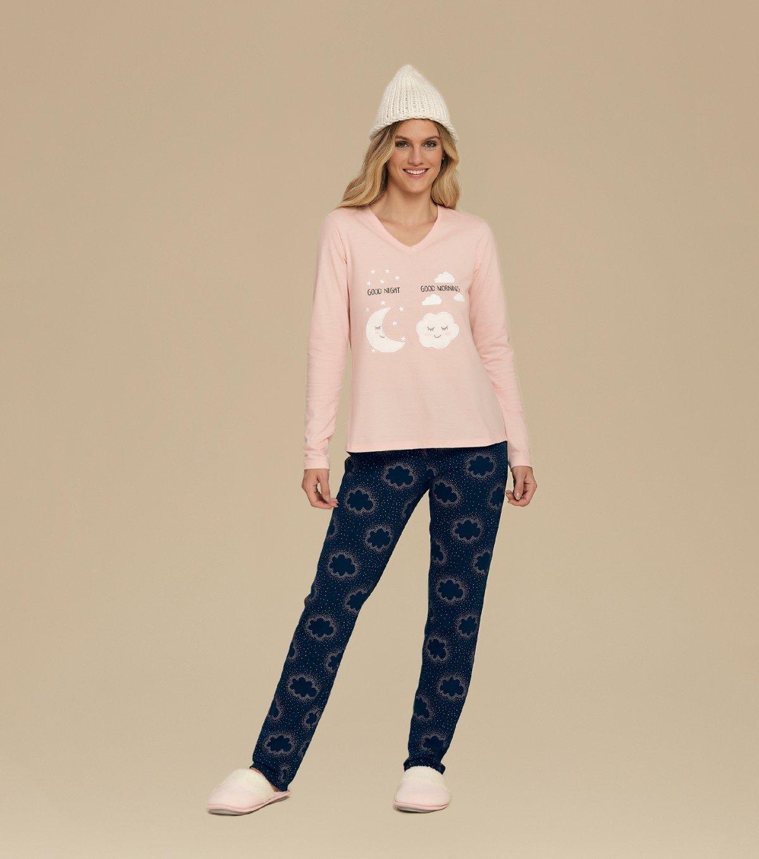 Pijama Manga Longa - 10562
