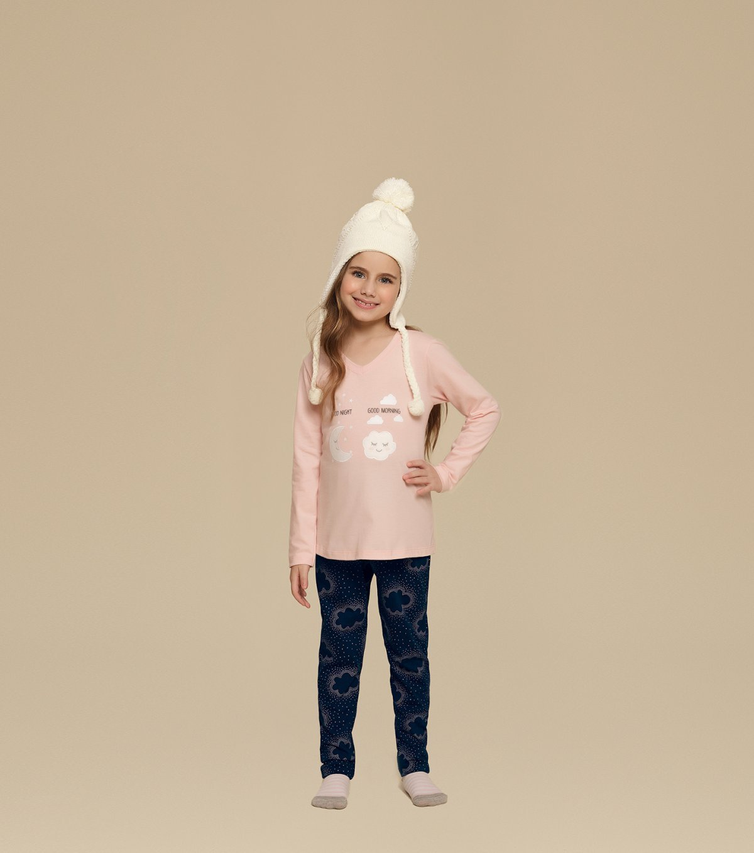 Pijama Manga Longa Infantil - 67323