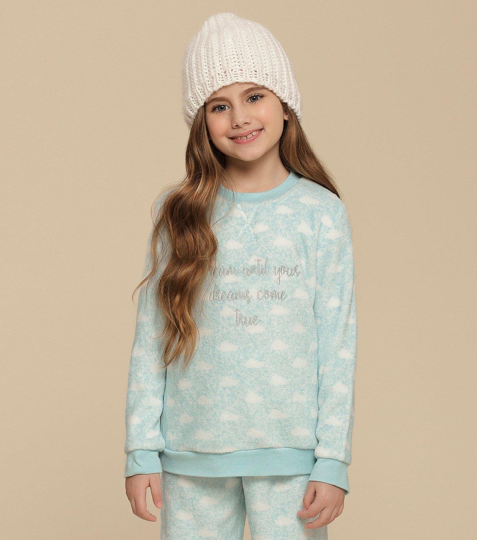 Pijama Manga Longa Infantil - 67322