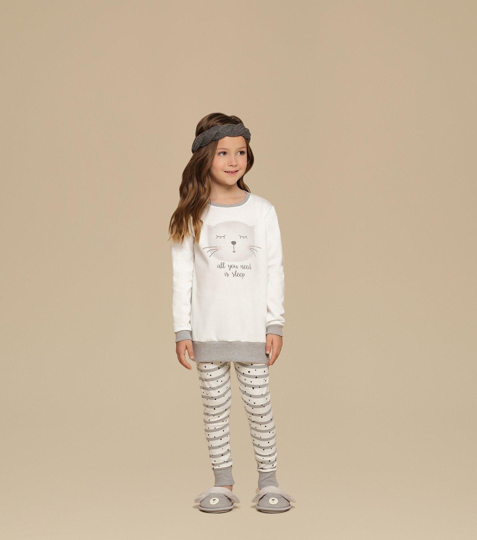 Pijama Manga Longa com Legging Infantil - 67324
