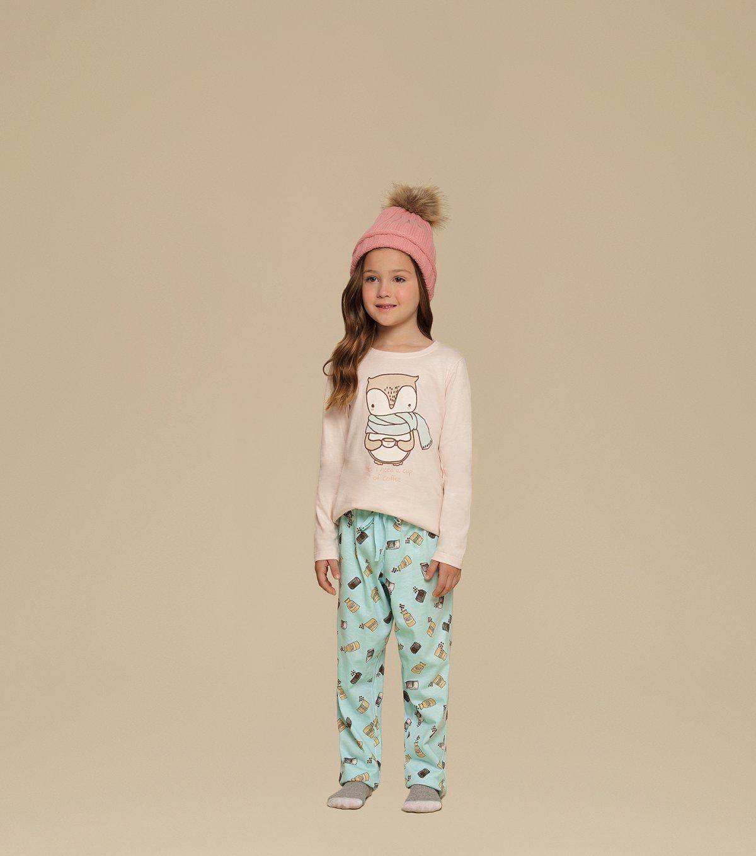 Pijama Manga Longa Infantil - 67353