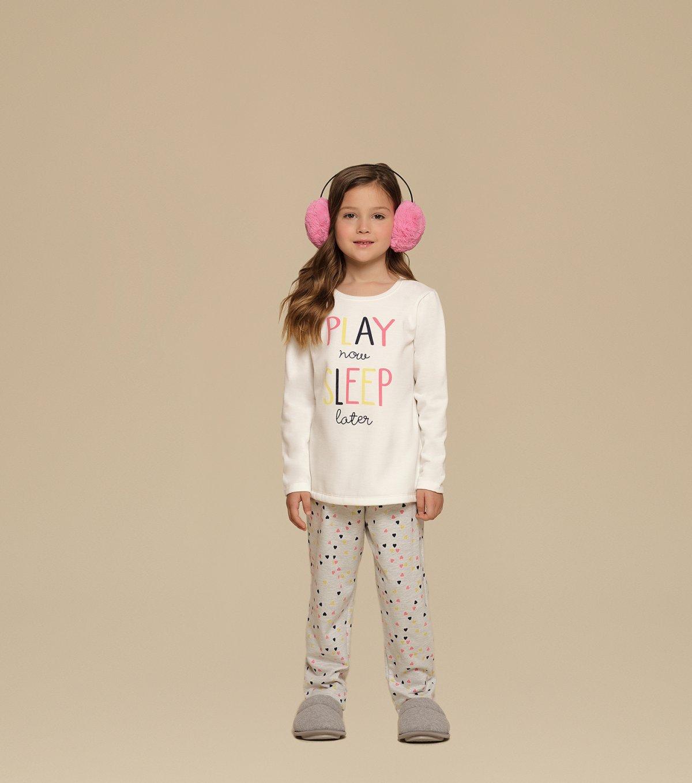 Pijama Manga Longa Infantil - 67349