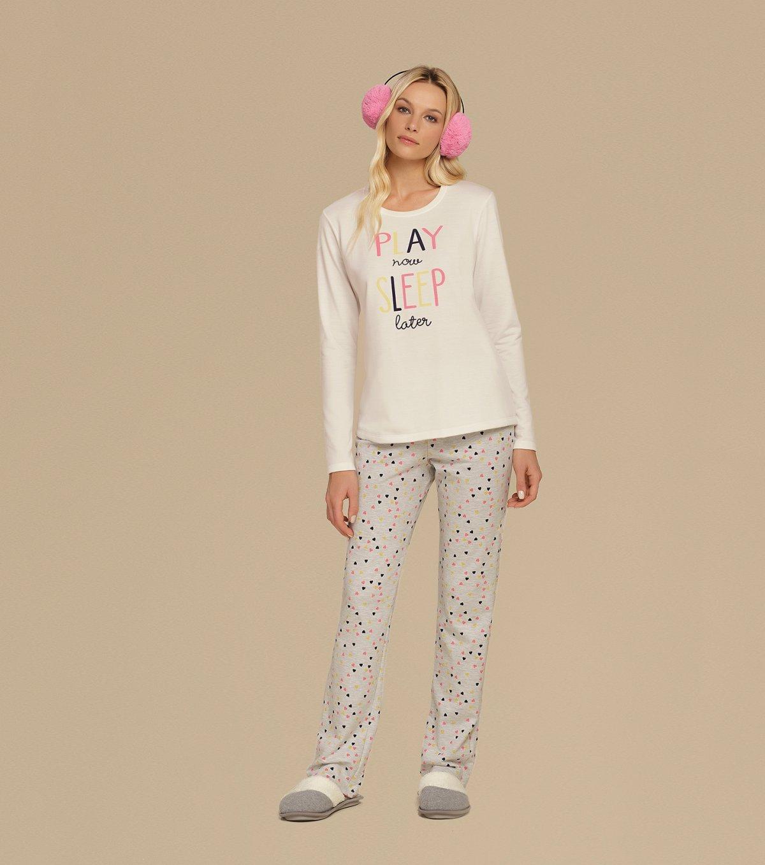 Pijama Manga Longa - 10634