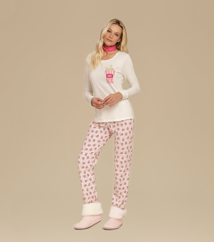 Pijama Manga Longa - 10628