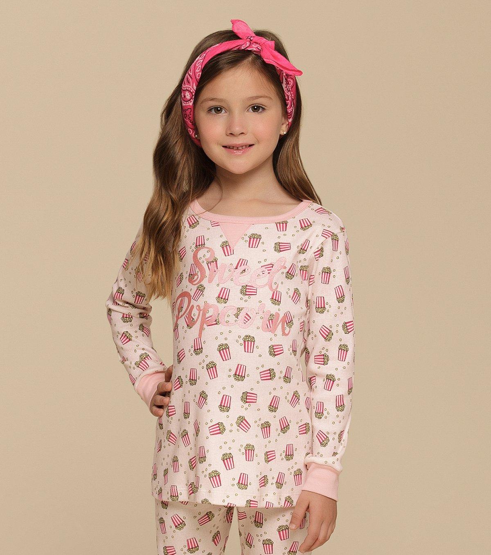 Pijama Manga Longa com Legging Infantil - 67346