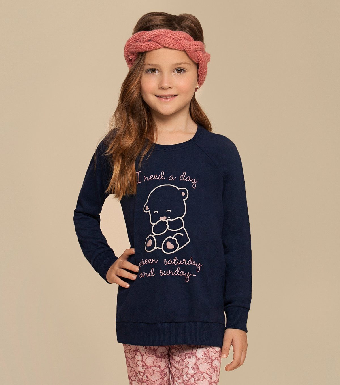 Pijama Manga Longa com Legging Infantil - 67331