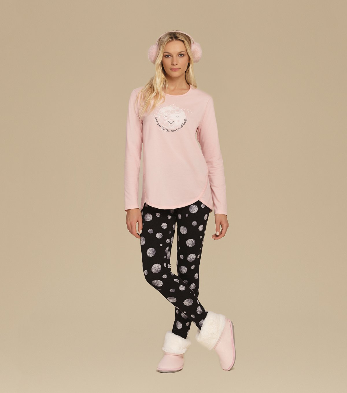 Pijama Manga longa com Legging - 10624
