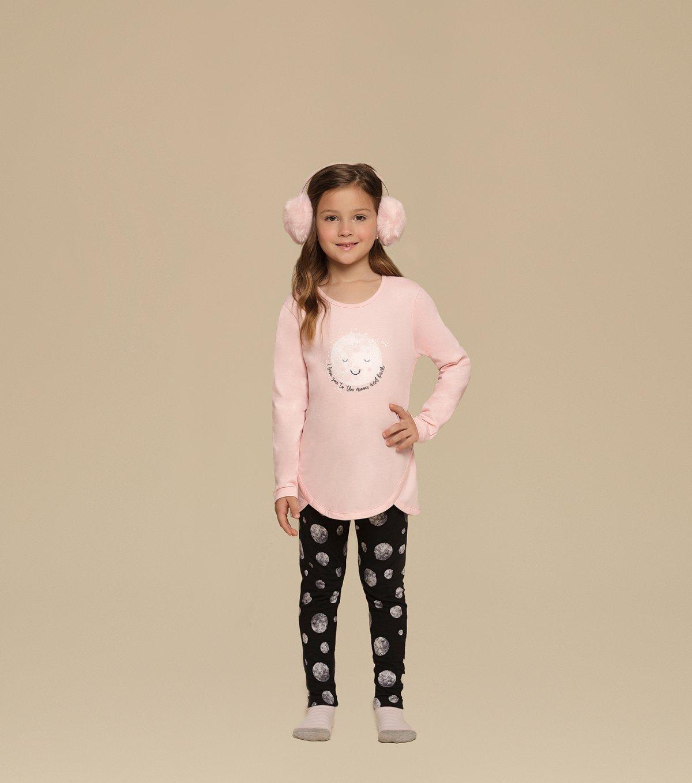 Pijama Manga longa com Legging infantil - 67344