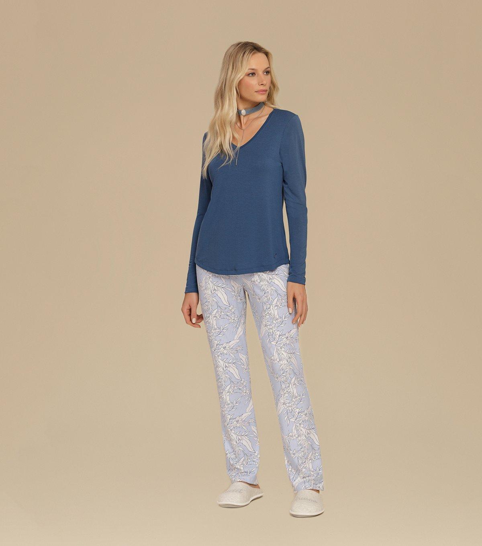 Pijama Manga Longa - 10576
