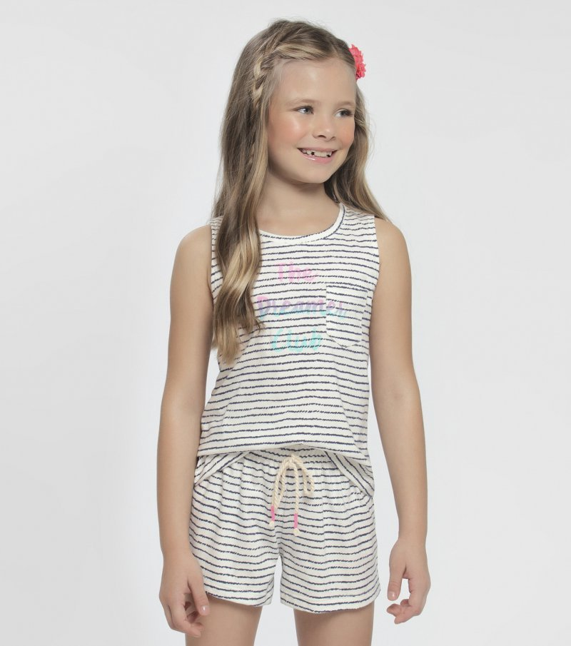 Short doll regata infantil - 67357