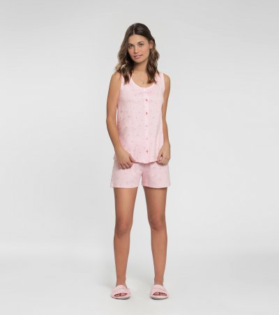 Short doll regata com abertura frontal - 10790