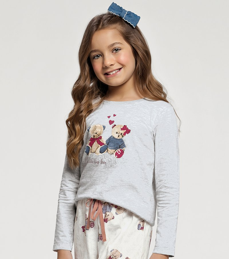 Pijama Manga Longa Infantil - 67407
