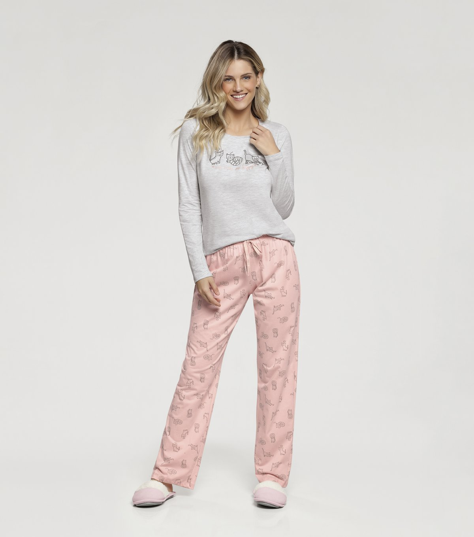 Pijama Manga Longa - 10890