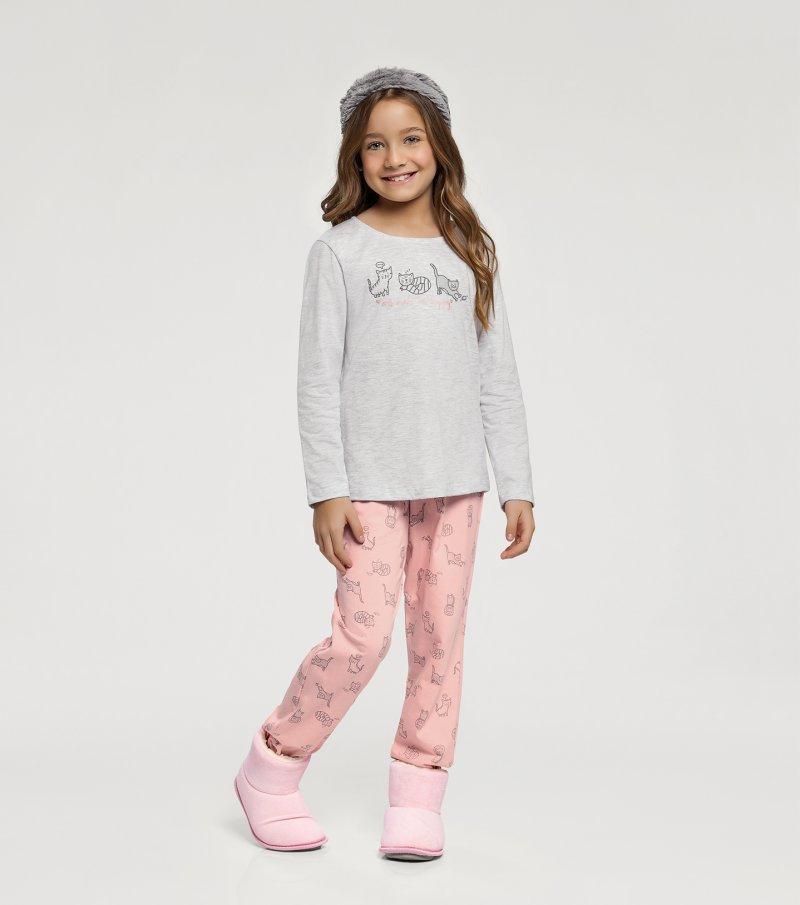 Pijama Manga Longa Infantil - 67398