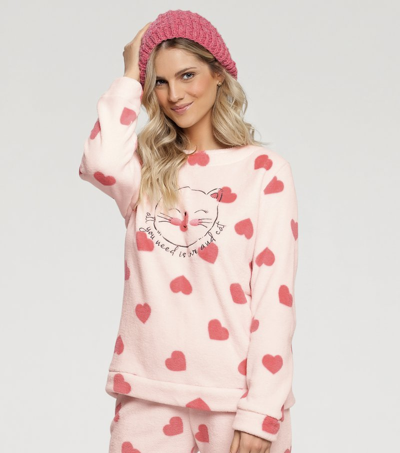 Pijama Manga Longa - 10837