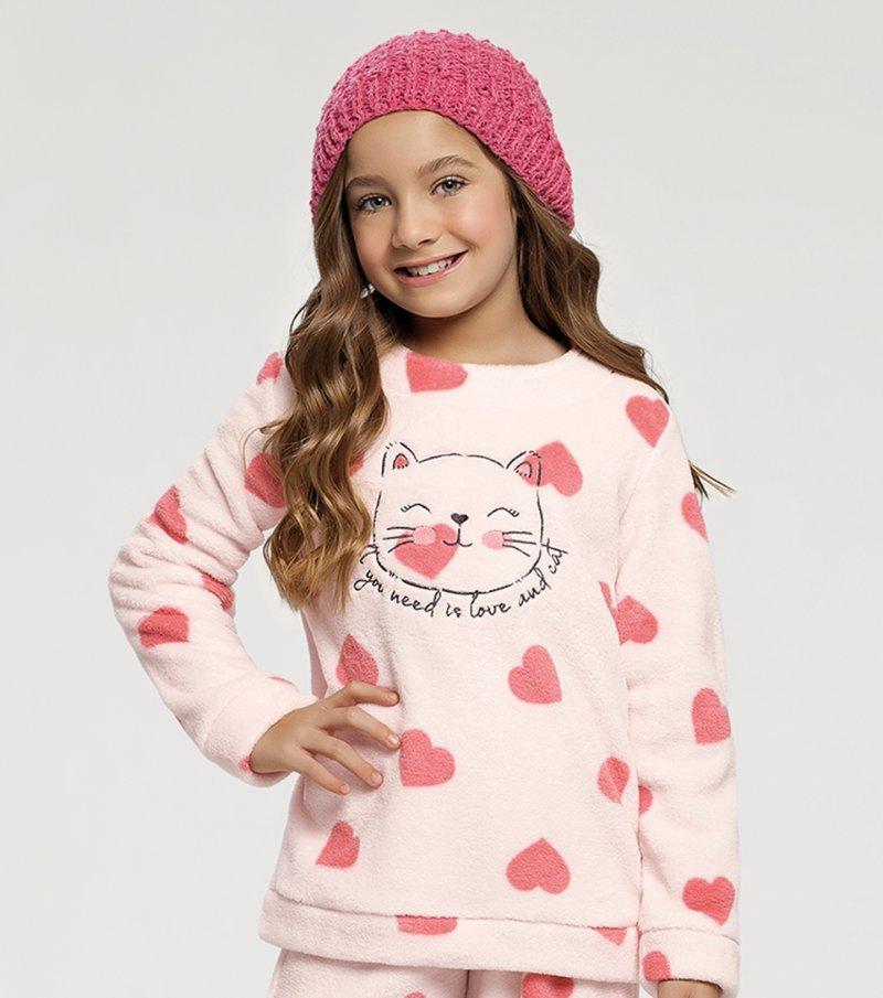 Pijama Manga Longa Infantil - 67391