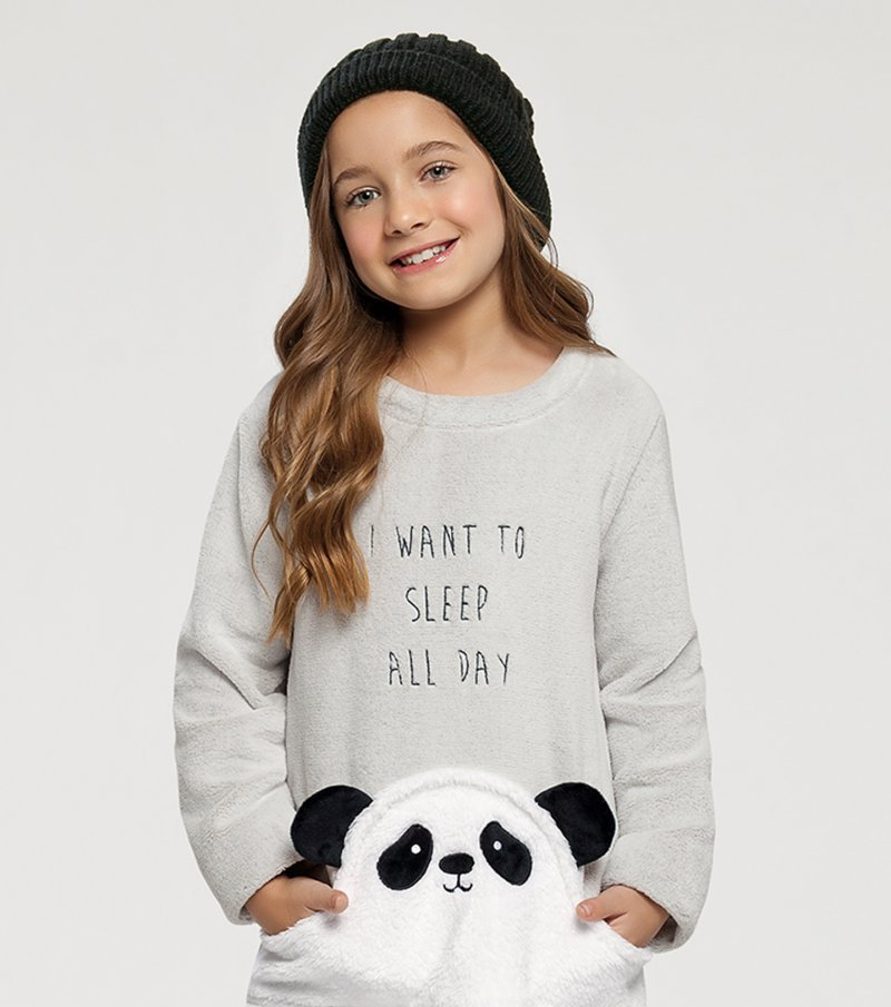 Pijama Manga Longa Infantil - 67395