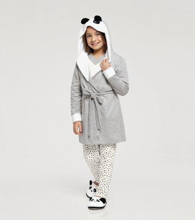Robe Manga Longa com Capuz Infantil - 67396
