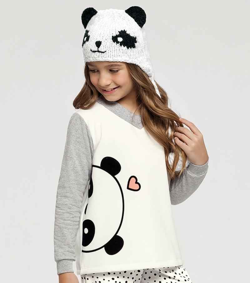 Pijama Manga Longa Infantil - 67397
