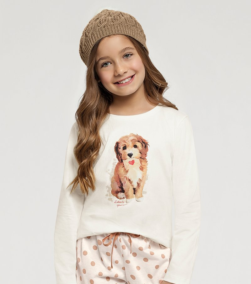 Pijama Manga Longa Infantil - 67412