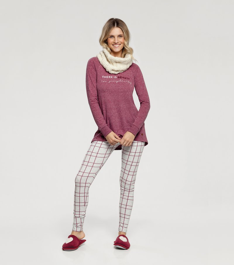 Pijama Manga Longa com Legging - 10932