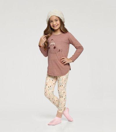 Pijama Manga Longa com Legging Infantil - 67401