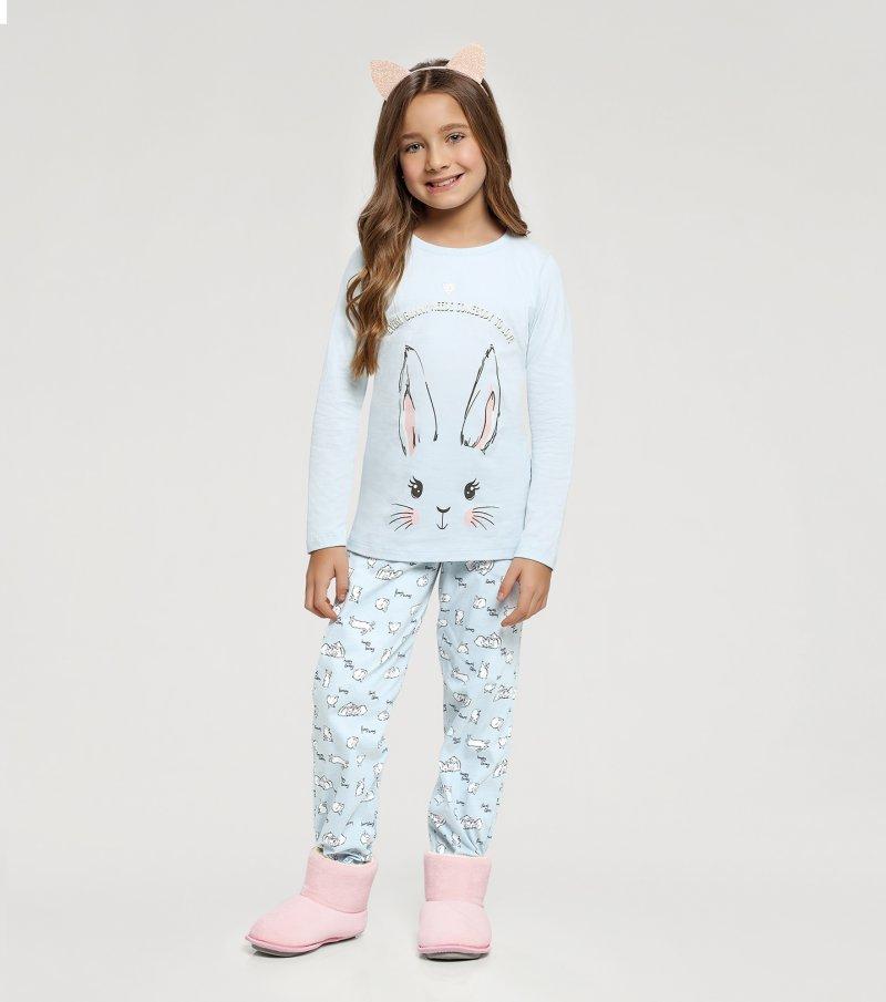 Pijama Manga Longa Infantil - 67411