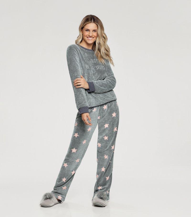 Pijama Manga Longa -  10876