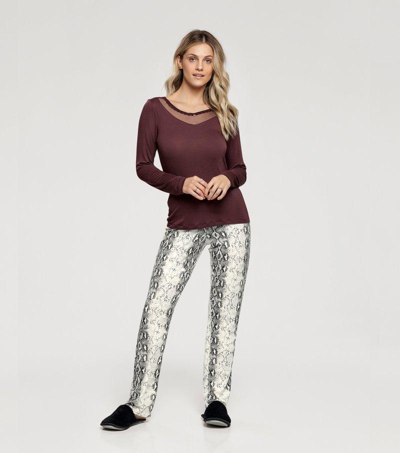 Pijama Manga Longa -  10980