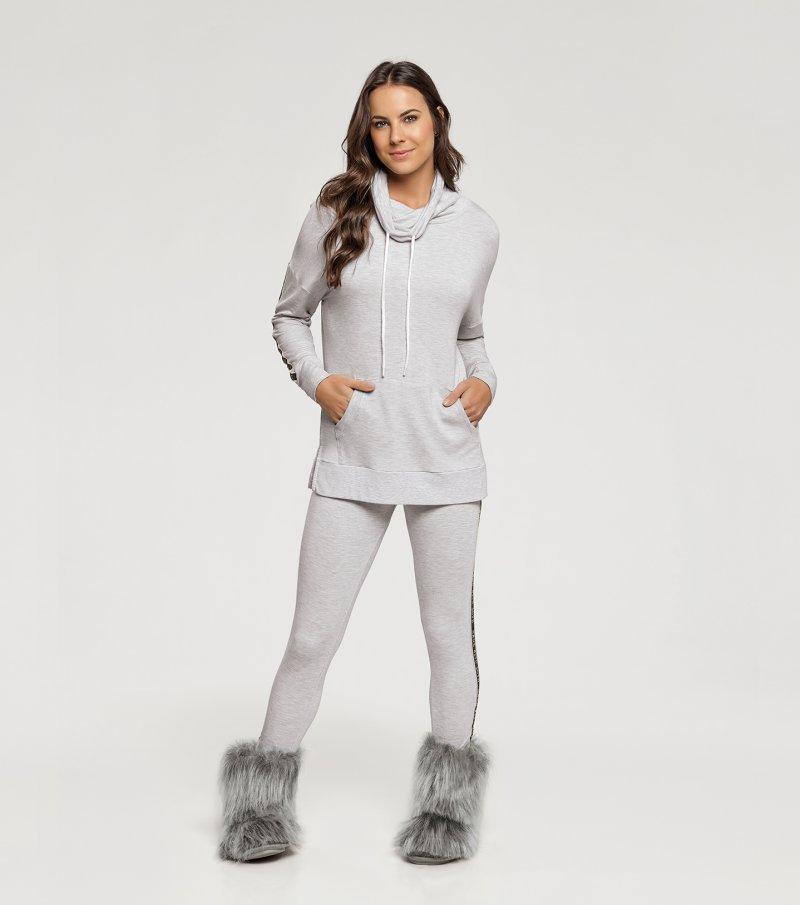 Pijama manga Longa com Legging - 10965