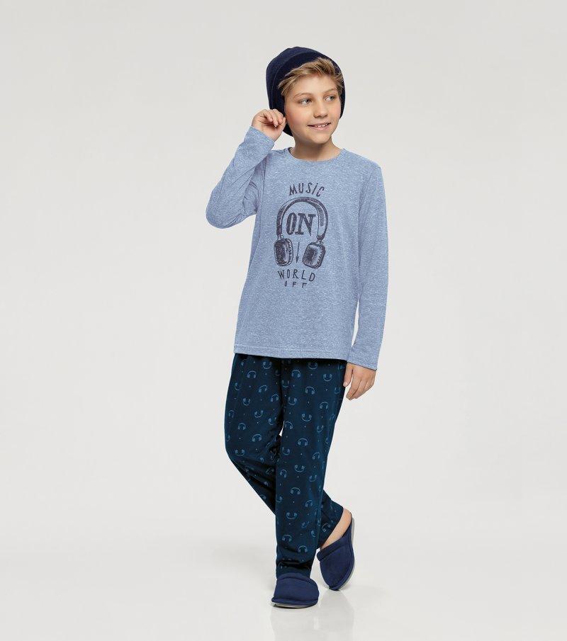 Pijama Manga Longa Infantil - 66339