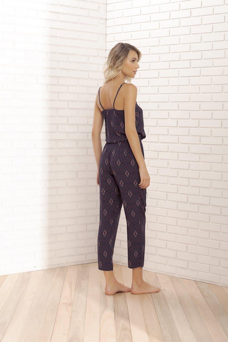 Pijama de Alça com Calça Midi - 11065