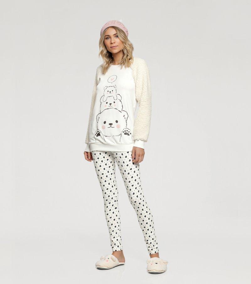Pijama Manga Longa com Legging - 10842