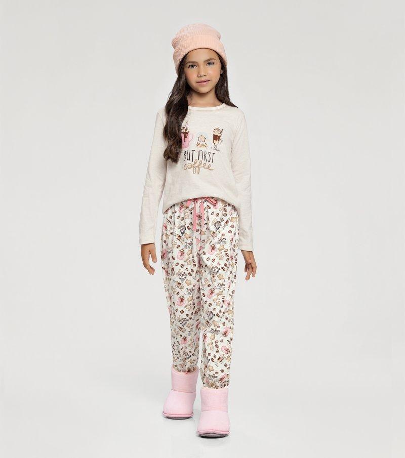 Pijama Manga Longa Infantil - 67413