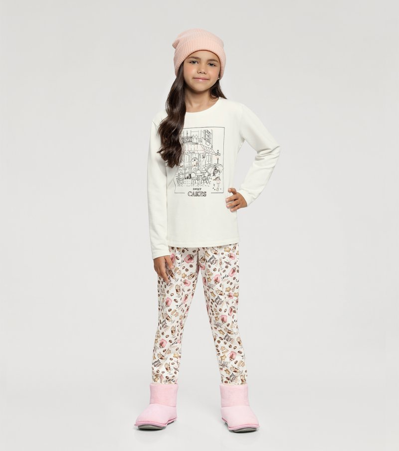 Pijama Manga Longa Infantil - 67414