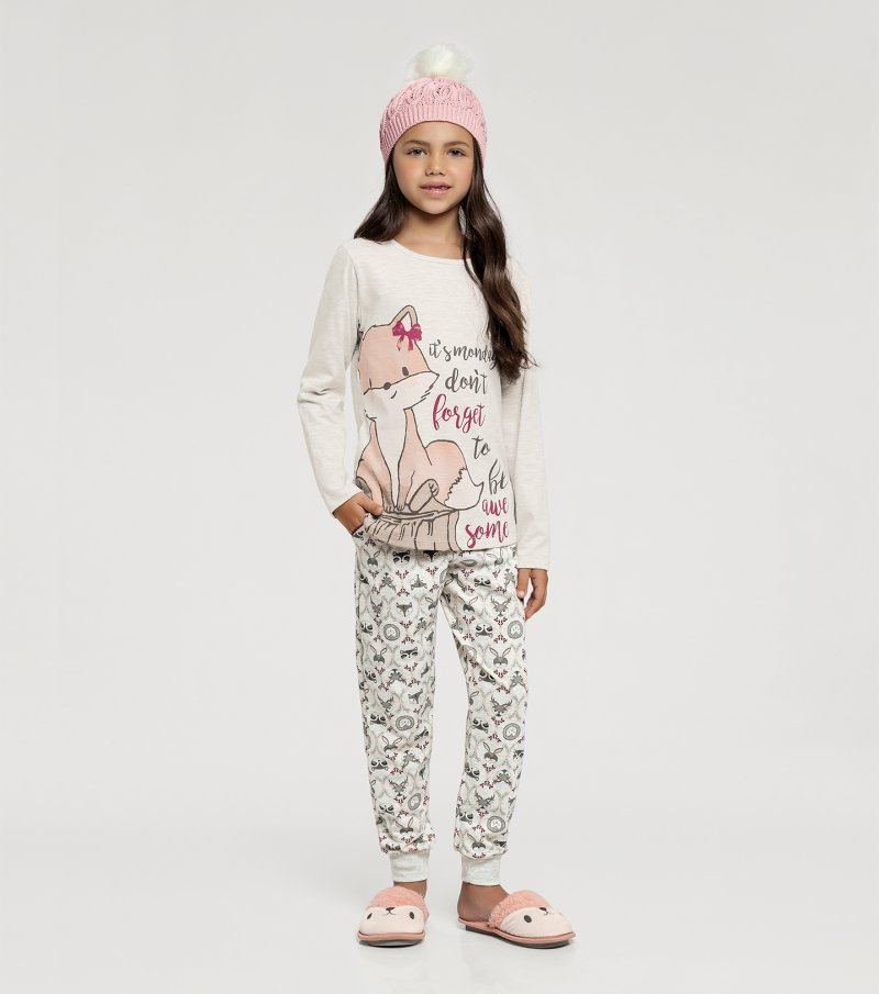 Pijama Manga Longa Infantil - 67402