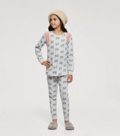 Pijama Manga Longa com Legging Infantil - 67404