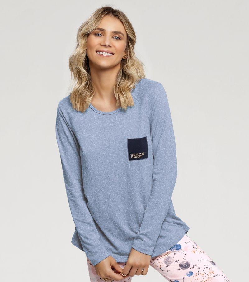 Pijama Manga Longa com Legging - 10874