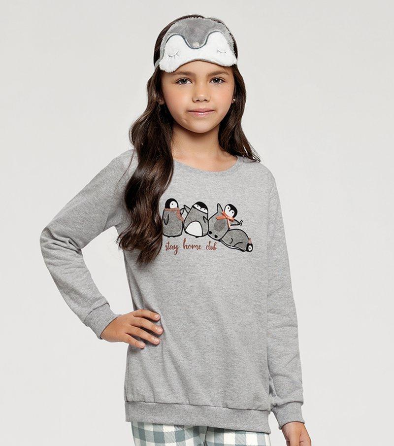 Pijama Manga Longa com Legging Infantil - 67392