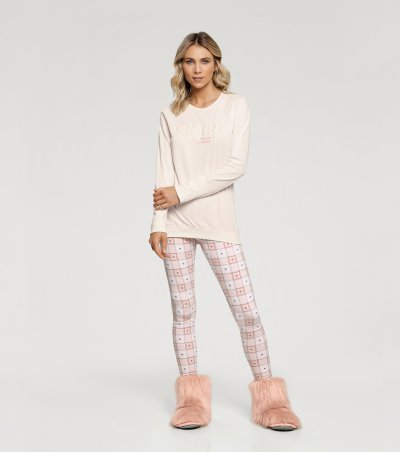 Pijama Manga Longa com Legging - 10915
