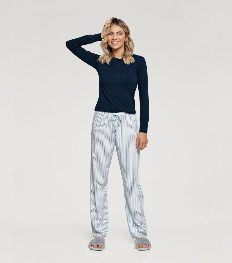 Pijama Manga Longa - 10878