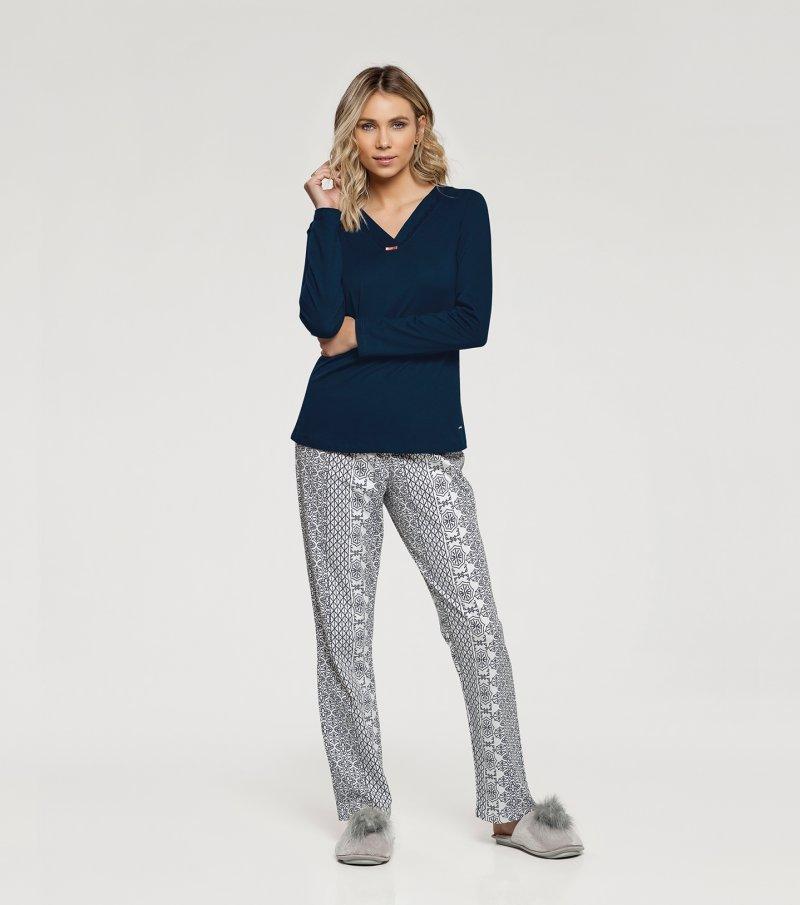 Pijama Manga Longa - 10986