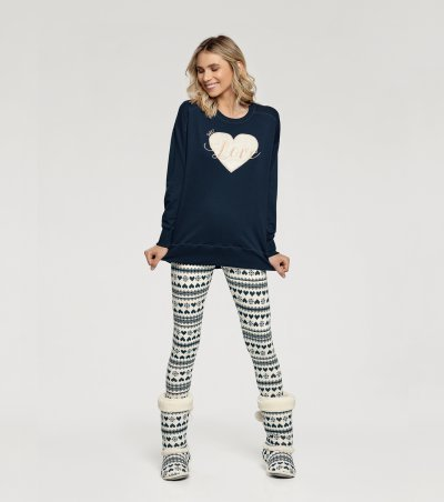 Pijama Manga Longa com Legging - 10928