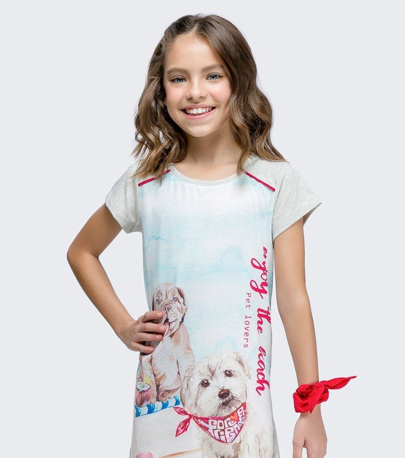 Camisola Manga Curta Infantil - 67442