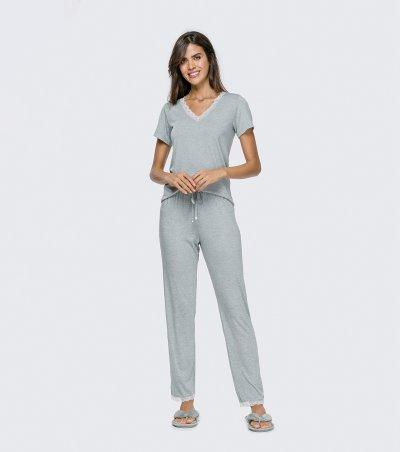 Pijama Manga Curta - 12096