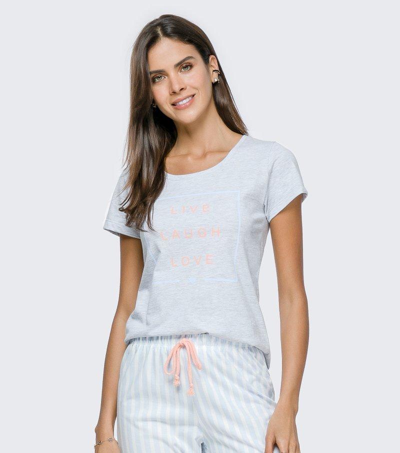 Pijama Manga Curta - 12129
